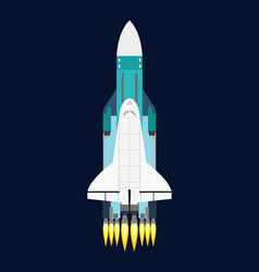 Technology ship rocket cartoon design for vector