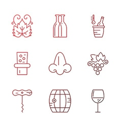 Wine icons vector