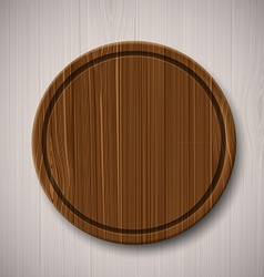 Wooden board for cutting food vector