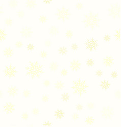 yellow snowflake pattern seamless vector image