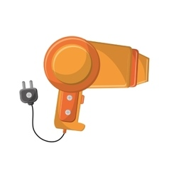 Isolated hair dryer machine design vector