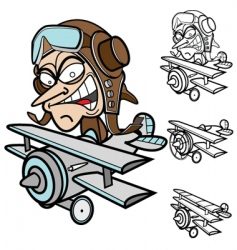 Airplane guy vector
