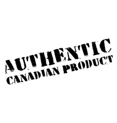 Authentic canadian product stamp vector
