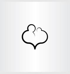 parent child care love icon vector image