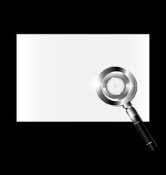 Small paper and magnifier vector