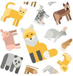 Animals seamless pattern vector