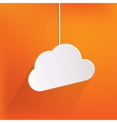 Cloud application web icon vector