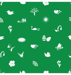 Spring icons pattern eps10 vector