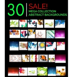 Large mega set of abstract backgrounds sale vector image