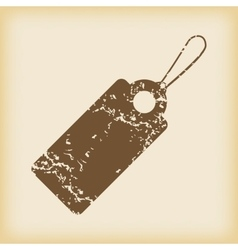 Grungy string tag icon vector