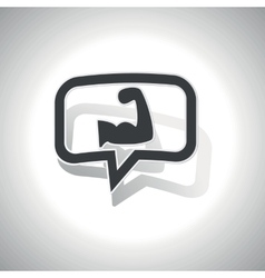 Curved muscular arm message icon vector
