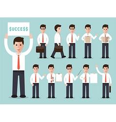 businessman characters set vector image