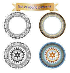4 set of round pattern vector