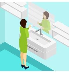 Pregnancy Test Isometric vector image