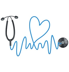 Stethoscope as symbol of good health vector