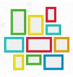 Colorful photo frames set vector image