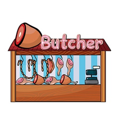 A butcher shop vector image