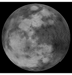 Abstract full moon shape vector image