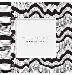 abstract glitch background card or banner vector image
