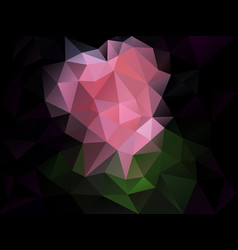 abstract irregular polygon background pink black vector image vector image