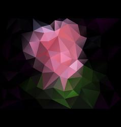 abstract irregular polygon background pink black vector image vector image