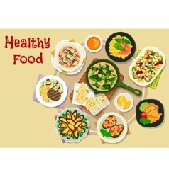 Appetizing meal icon for lunch menu design vector image vector image