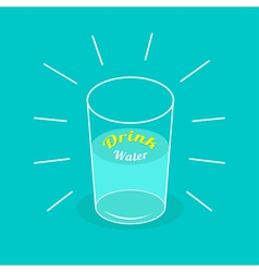 Big shining glass of water drink water infographic vector