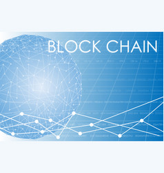 Business block chain vector