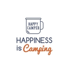 Camping typography concept with hiking symbol - vector image vector image