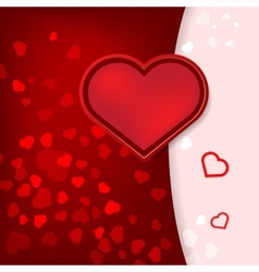 card with hearts Valentines Day vector image vector image