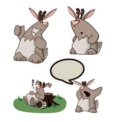 Cartoon jackalope vector