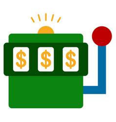 casino bandit flat icon vector image