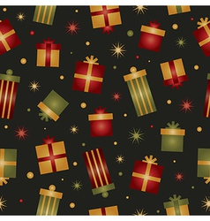 christmas gift pattern vector image vector image