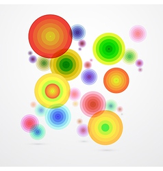 Colorful Abstract Circle Background vector image vector image