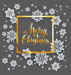 Dark snow holiday card vector