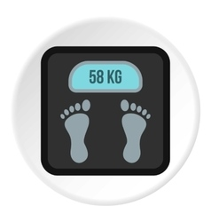 Electronic scale icon flat style vector