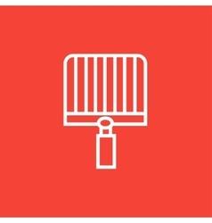 Empty barbecue grill grate line icon vector image
