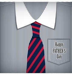 fathers day greeting card with shirt vector image