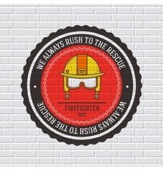 Firefighter label template of emblem element for vector