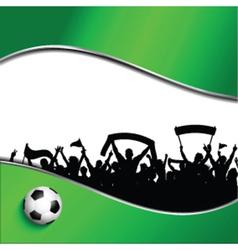 Football or soccer crowd background vector image vector image