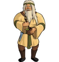 Gray haired alchemist vector