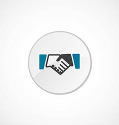 Handshake icon 2 colored vector