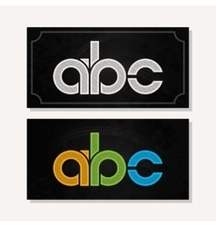 letter A B C logo alphabet chalk icon set vector image
