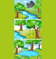 nature scenes with river and swing vector image
