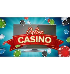 Online casino poster modern computer vector