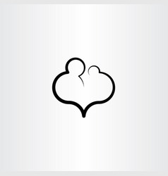 parent child care love icon vector image