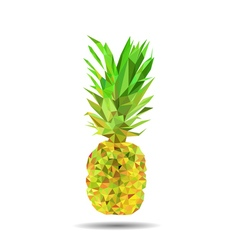 polygonal pineapple vector image vector image