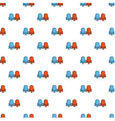 Red and blue cinema armchairs pattern vector