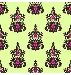 Seamless damask patten vector