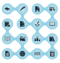 set of simple books icons vector image